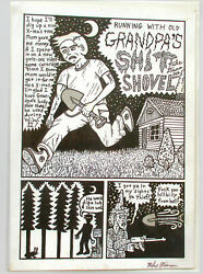 Grandpa's Sh_t Shovel  - 5 page complete story underground Mike Diana 2000