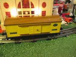 Lionel Pre War 814 Yellow And Brown Box Car Excellent Orig Cond 1926-42 Sharp