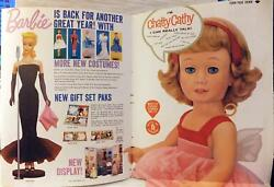 Mattel Advertisement '60 Playthings Insert Ad, Barbie Doll Fold-out Chatty Cathy