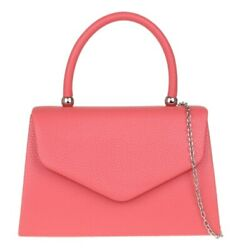 Womens Plain Clutch Bag Faux Leather Simple Grab Holder Pink Hardware Evening GBP 10.49