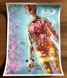 Belly - U.s. Mid West 2018 Tour Poster Signed Autographed