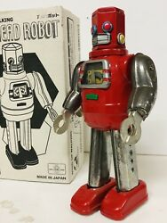 Hex Head Robot – Rare Tin Wind-up Toy – Metal House Japan – Mint In Box R.m Tra