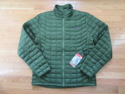 NORTH FACE MENS THERMOBALL FULL ZIP JACKET SCALLION GREEN NWT S