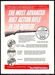1957 Fn F.n. Fabrique Nationale Series 300 Rifle Firearms International Ad