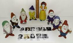 Disney1930and039s Snow White And The 7 Dwarfs Largest Bisque Set Of 5 Made+cast Photo