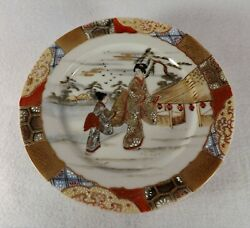 Lot Of Antique Japanese Satsuma Plates 8 Hand Painted Plates Artist Signed