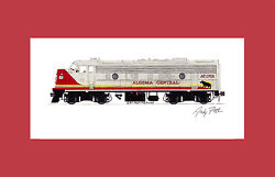 Algoma Central Fp7 11x17 Matted Print By Andy Fletcher Signed