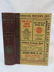 Wright's Fond Du Lac City Directory 1948 Wisconsin
