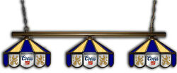 Coors Banquet Origina Beer Billiards Stained Glass Mirror Pool Table Light Lamp
