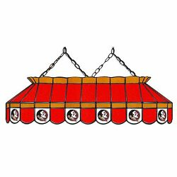 Ncaa Florida State Seminoles 40 Stained Glass Pool Table Light--made In Usa
