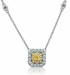 Estate 18kt White And Yellowandnbspgold Love Necklace