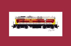 Algoma Central Gp7 11x17 Matted Print By Andy Fletcher Signed