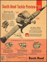 1959 Vintage Ad For South Bend Spin Cast Rods/fishing 021613