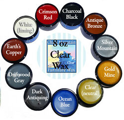 Chalk Furniture Wax 1 8 0z Clear And 2 4 Oz Accenting Wax 10 Colors To Choose