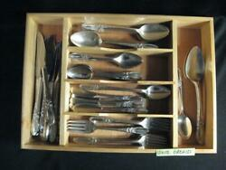 Community White Orchid Silverplate Flatware - Ca 1953 - 78 Pieces