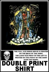 Hooded Grim Reaper King Stands On Heaps Of Skulls From His Victims T-shirt Ws210