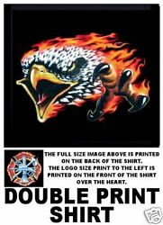 Firemen Fire Fighter Eagle In Flames T-shirt Xt36d