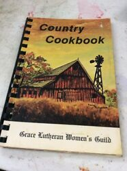 Vintage Spiral Cookbook Country Cookbook Grace Lutheran Women's Guide