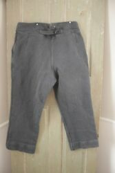 French Work Wear Pants Salt And Pepper Vintage Clothing Trouser 40 Inch Waist 1930