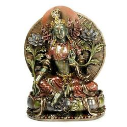 GREEN TARA STATUE 8quot; Bronze Resin Buddha HIGH QUALITY Buddhist Goddess Tibetan $88.88