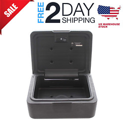 Fireproof Box Waterproof with Key Lock 0.15 Cubic Feet Safety Privacy Case Black