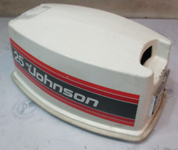 0390668 Johnson Evinrude Sea Horse Outboard 25 Hp Top Motor Cover Cowling 1981