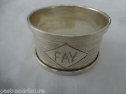 English Sterling Napkin Ring Engraved Name Of Fay 1 By 1 3/4 Birmingham 1931
