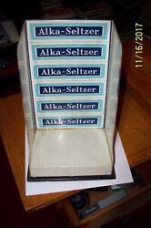 Old Vintage Alka-seltzer Countertop Store Display And Attached Tape Dispenser