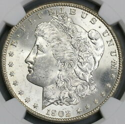 1902-o Ngc Ms 63 Morgan Silver Dollar New Orleans Mint Coin 19041803c