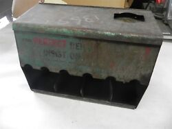 Vintage Gas Station Dealership Parts Cabinet 1940's 1950's Reads Perfect Remaco