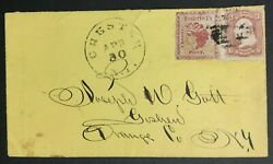 Momen Us Stamps 144l9 65 Used On Cover Pf Cert Rare