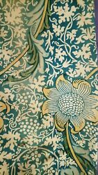 William Morris And Co Curtains Ca 1900 W/ Label Arts And Crafts Design Victorian