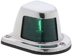 Attwood Marine Stainless Steel Sidelight 1 Nautical Mile Green Starboard 66319g7