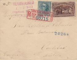 1893, Chicago, Il To Carlsbad, Austria, Registered, See Remark 30276