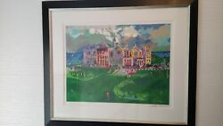 Leroy Neiman Silk Screen The Club House At St. Andrews Golf Limited Edition