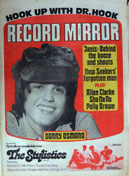 Record Mirror 8 July 1972 . Donny Osmond Cover . Beatles . Janis Joplin .not Nme