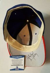 Harry Caray Beckett Authenticated Chicago Cubs Hat Autograph Extremely Rare