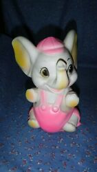 Vintage Sanitoy Rubber Squeek Elephant Squeeks 7 5/8 Inch High Cute