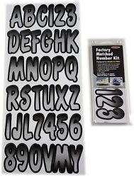 Hardline Factory Matched Letters And Numbers - Series 200 - Silver/black Sibkg200