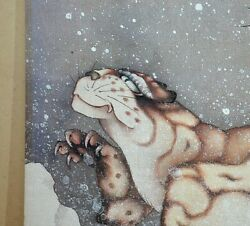 i31881-13(Left) Old Tiger in the Snow Hokusai H160cm x W66cm Reproduction