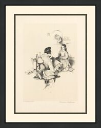 Norman Rockwell The Teacher 1974 | Rare Signed Print | Framed | Others Avail