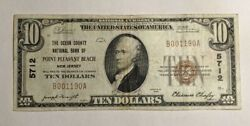 1929 10 Small National Bank Of Point Pleasant Beach New Jersey Only 13 Known