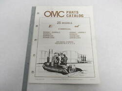 397318 Omc Evinrude Johnson 1986 Outboard 25 Hp Commercial Parts Catalog