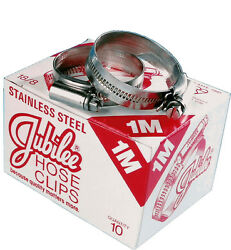 Jubilee Hose Clamps Size 2x/bs60 Box Of 10 Aston Martin Db5 Jaguar Xke S/s Clips