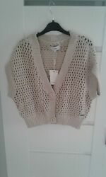 Signal Ladies Half Length Cardigan,size M,100cotton,new With Tag