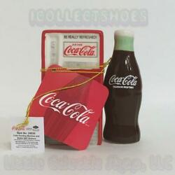 Coca-cola 24830 Coke Machine And Bottle Ceramic Magnetic Salt And Pepper Shakers