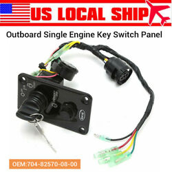 12v 0.1w Single Key Switch Panel Part For Yamaha Outboard Boat 704-82570-08-00