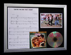 Grease+movie+the One I Want+ltd Cd Quality Framed Display+express Global Ship