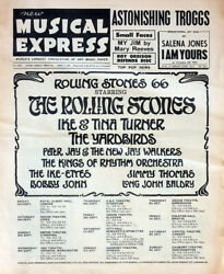Nme 9 Sept 1966 . The Rolling Stones / The Yardbirds Uk Tour Front Cover