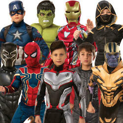 Deluxe Avengers Endgame Boys Fancy Dress Marvel Comics Superhero Kids Costumes